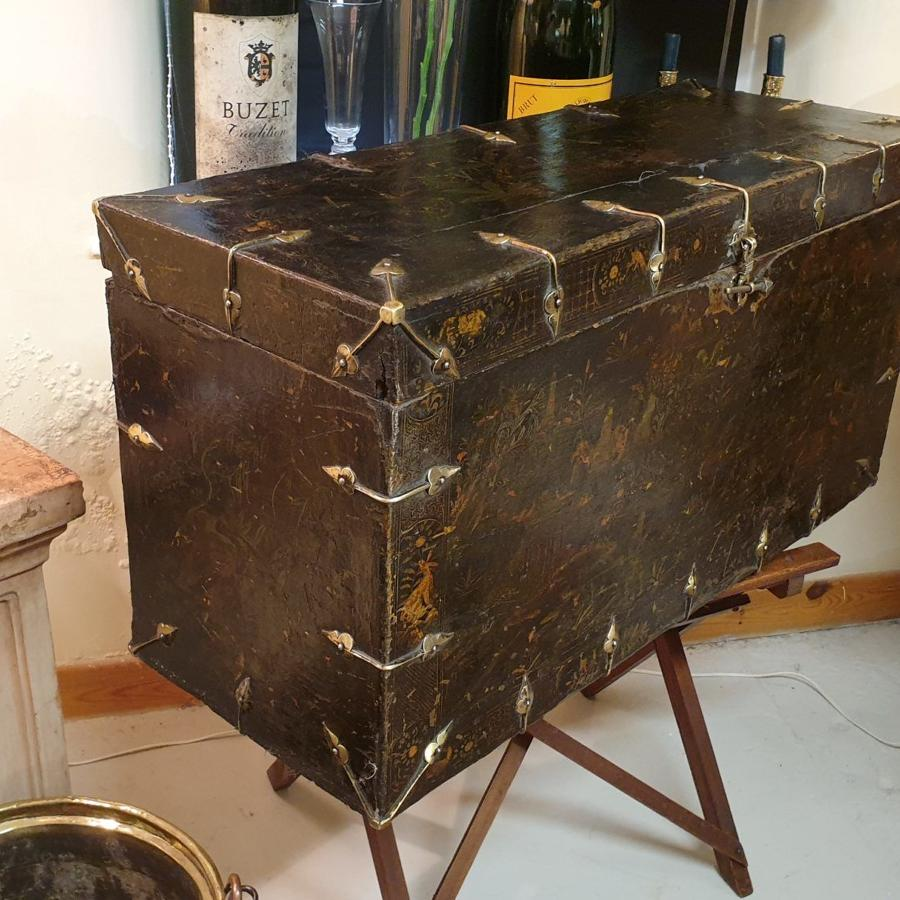 Fabulous 19th Century Unusual Chinese Trunk
