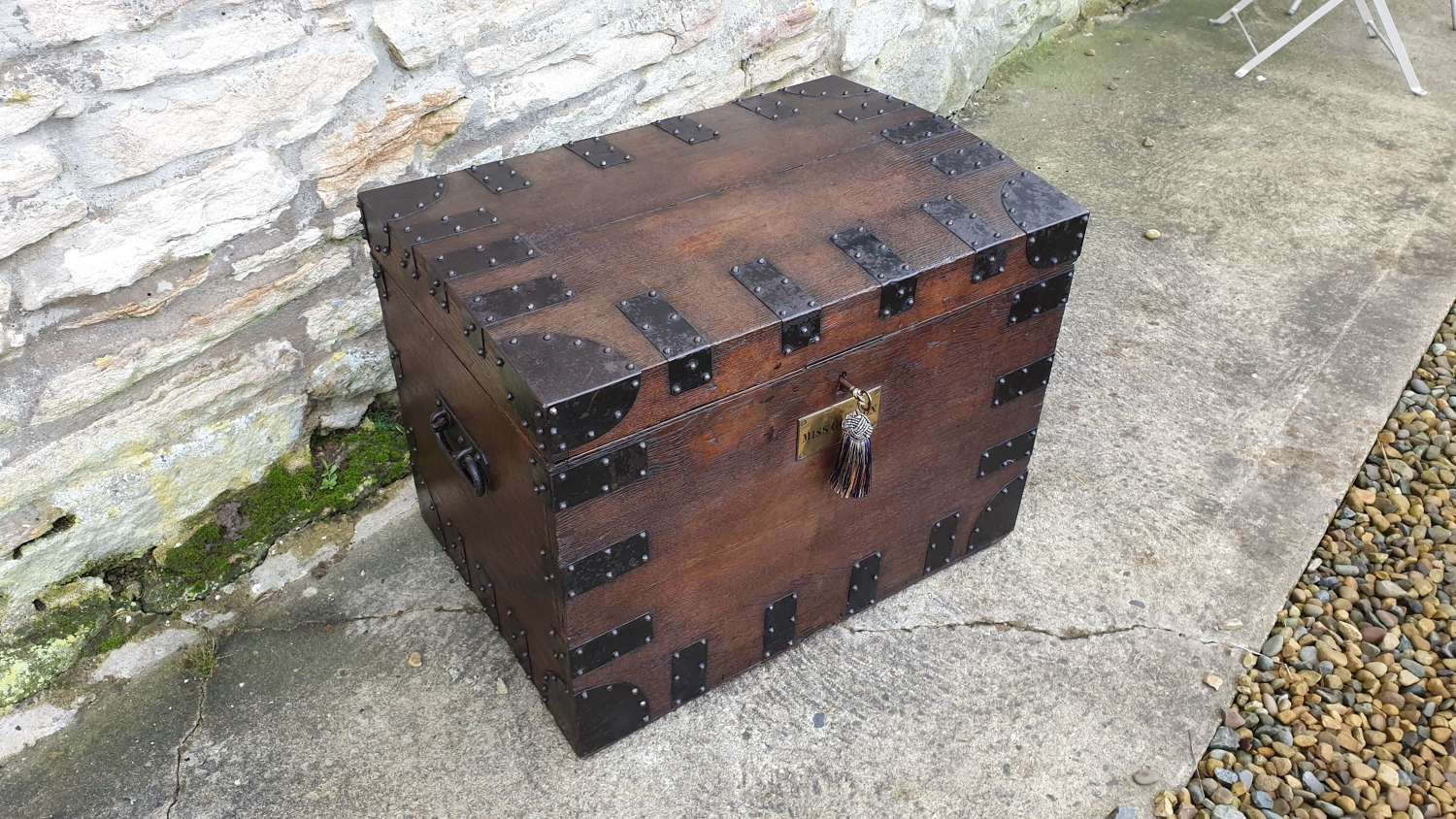 Handsome 19th c. Country House Silver Chest.