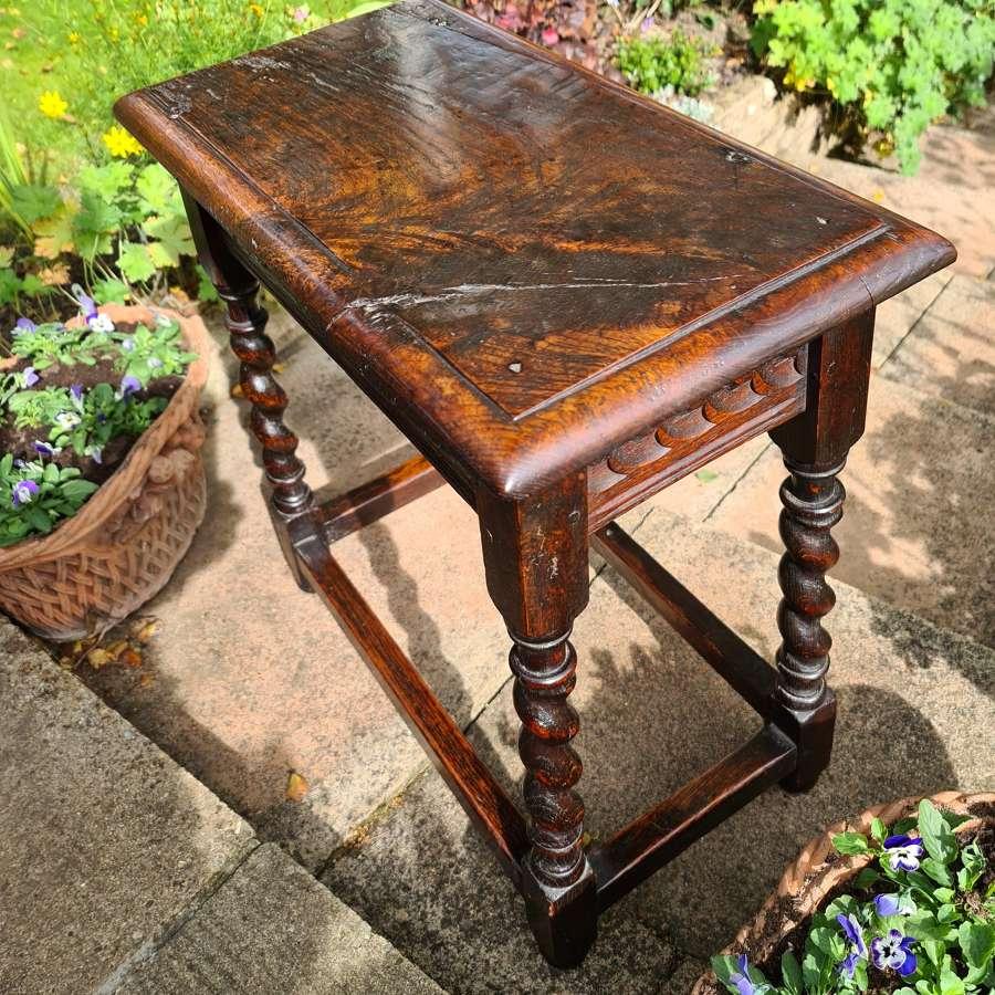 Oak Joint Stool 17th/18th Century