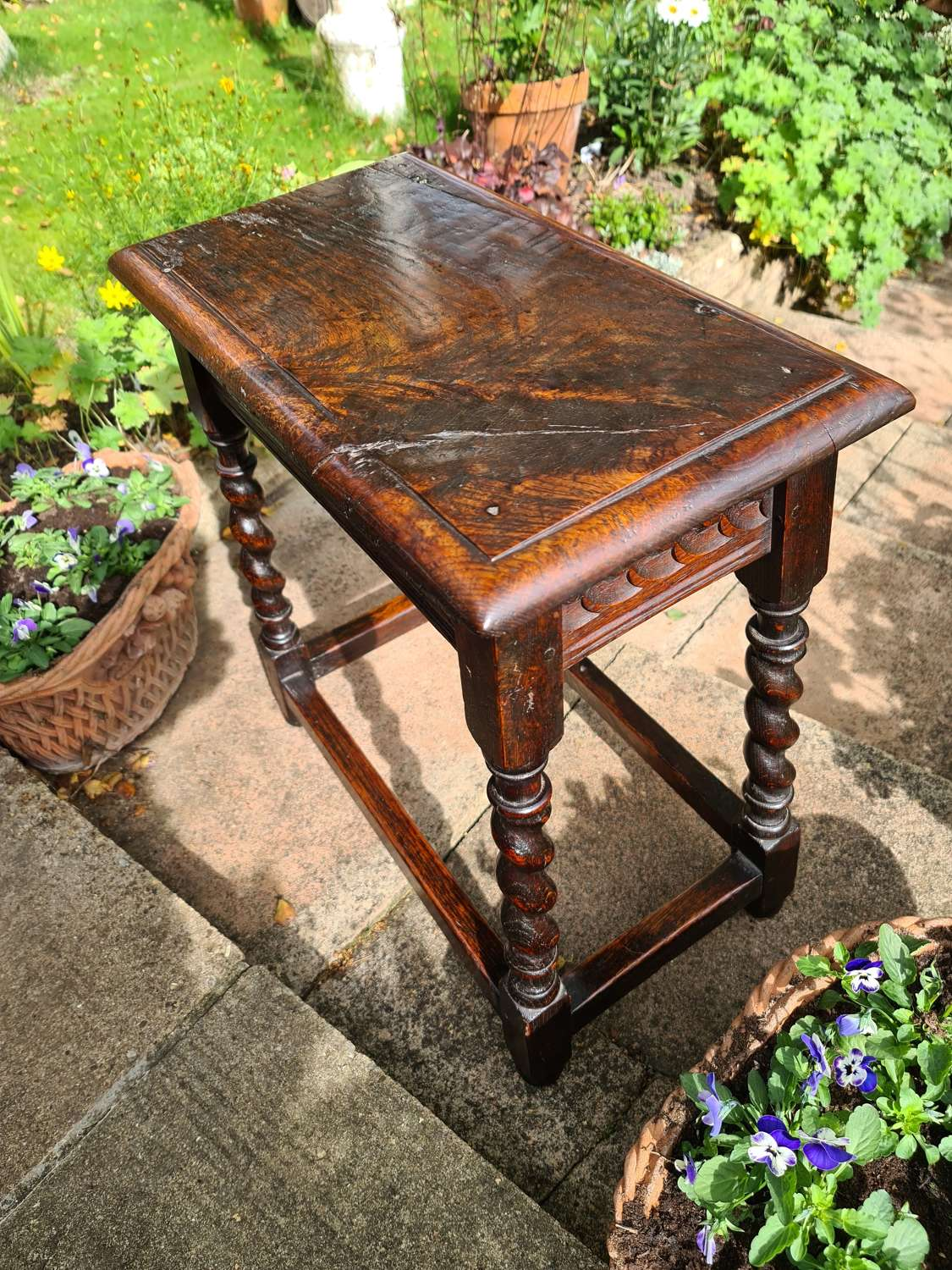 Oak Joint Stool 17th/18th Century