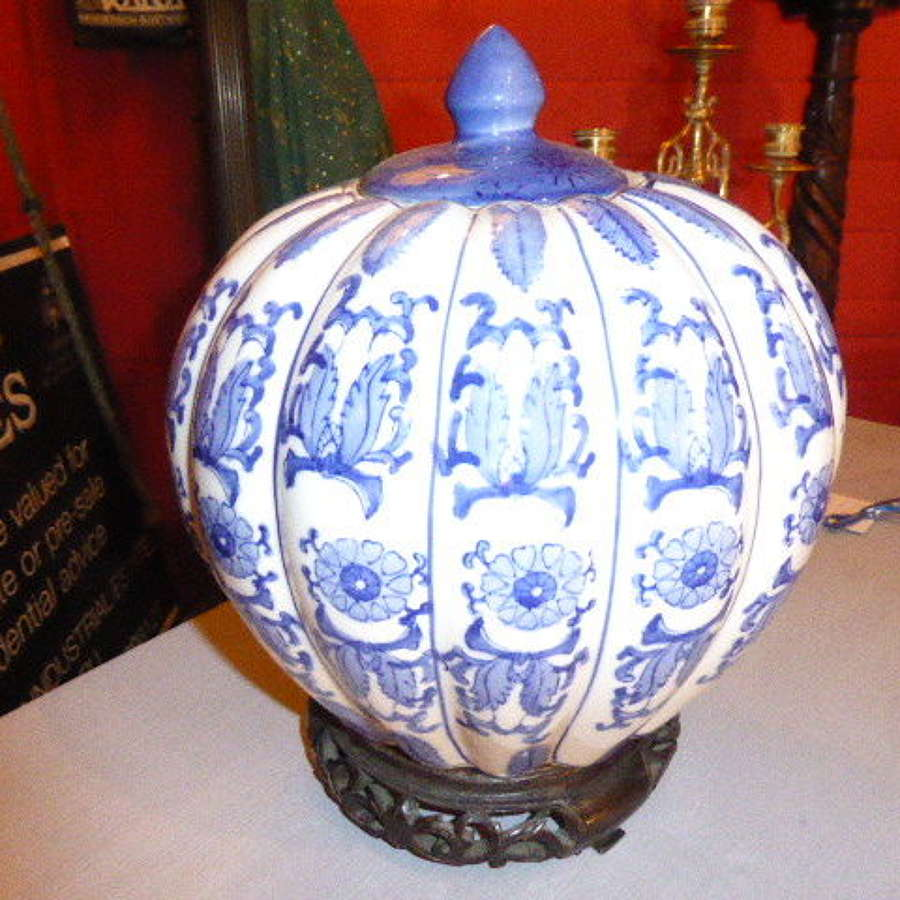 Onion Shaped Ginger Jar 20th Century