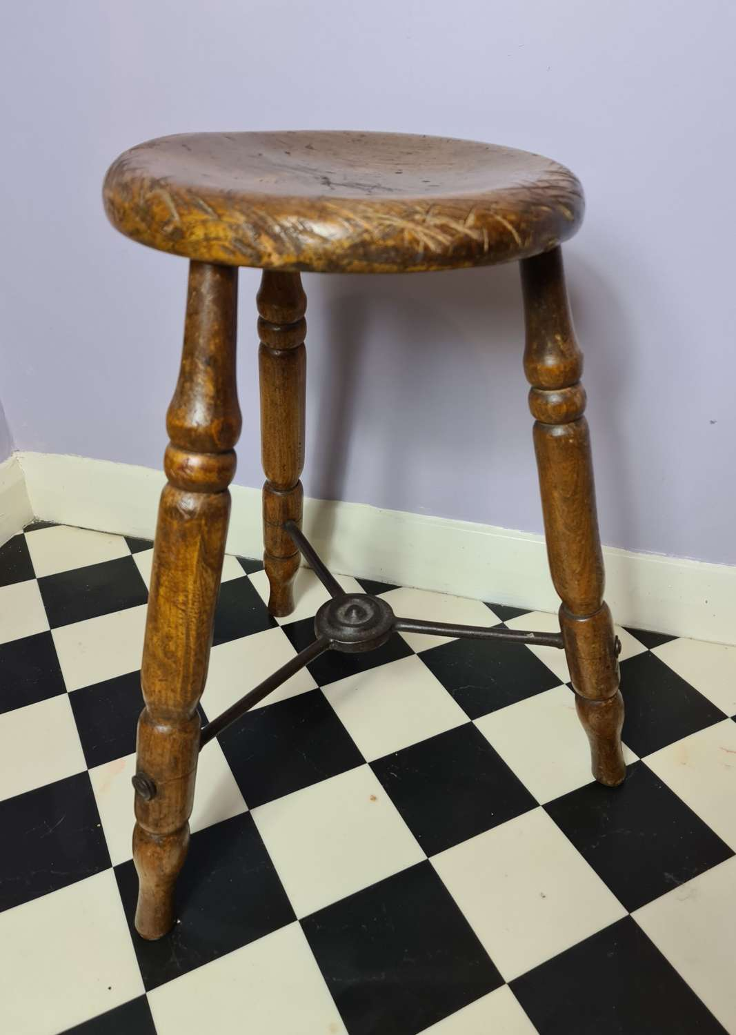 Traditional Victorian Kitchen Stool