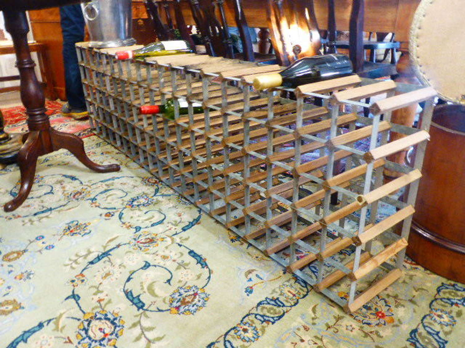 Unusual large Wine Rack to hold 114 Bottles