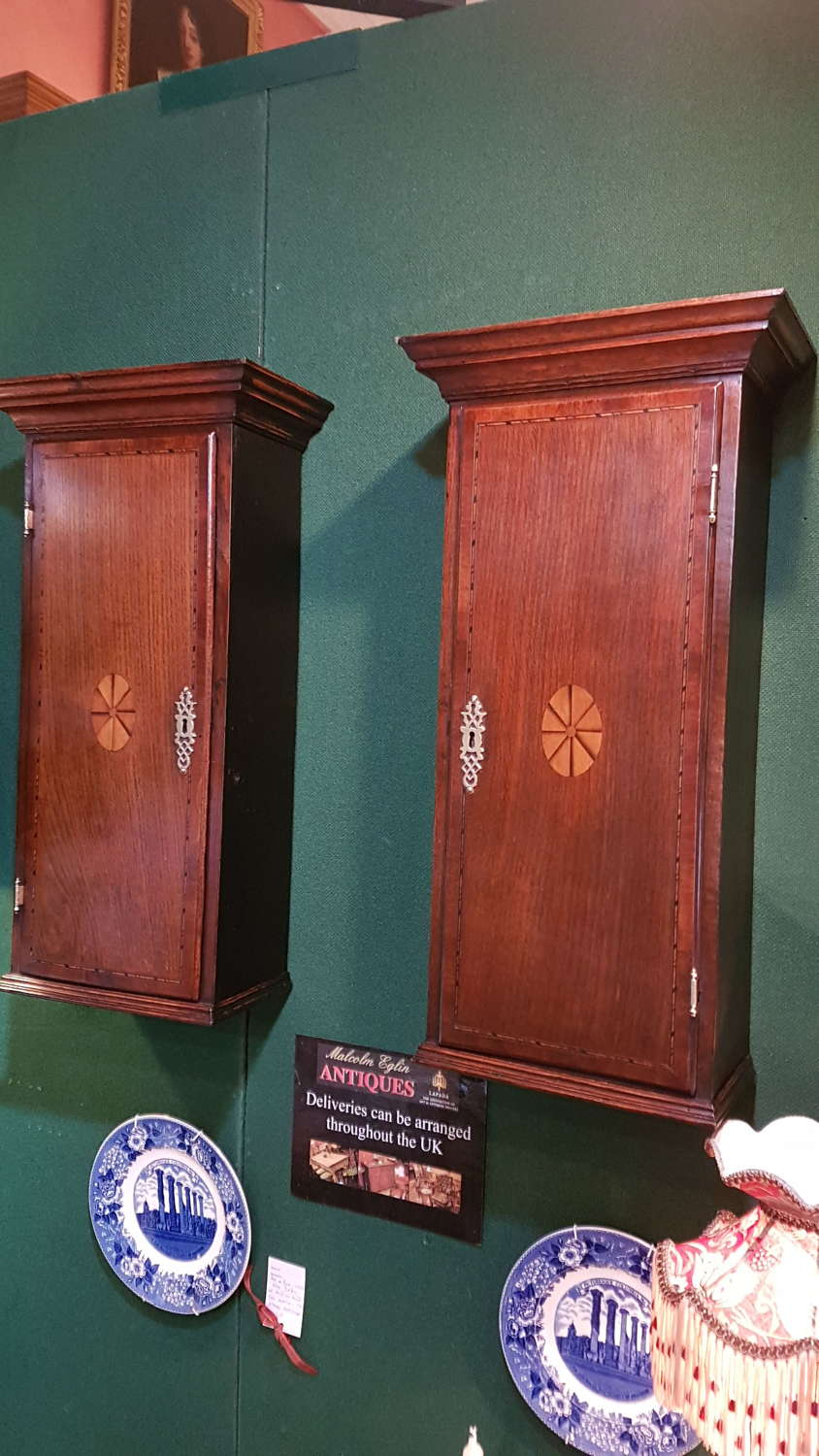 A Pair of 18th century Country Made Wall Cupboards