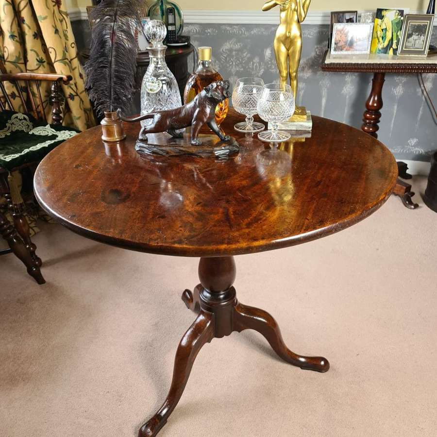 Exhibition Quality Mahogany Tip-Up Table c.1760