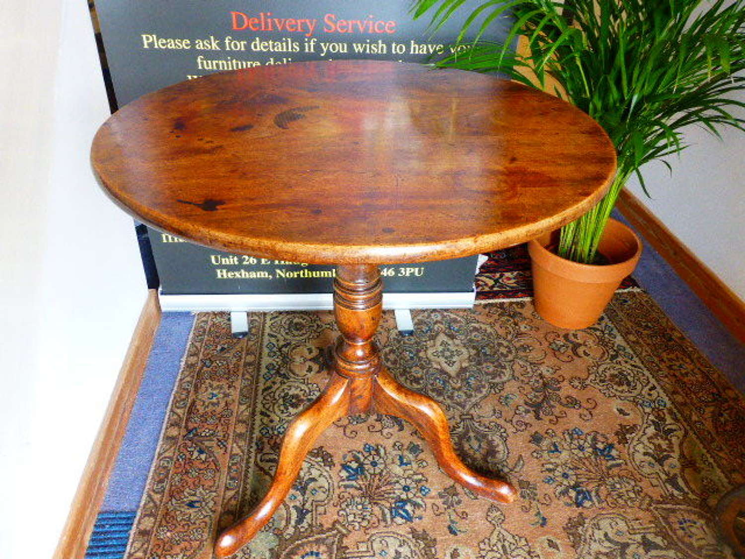Round 18th c. Occasional Table or Lamp Table
