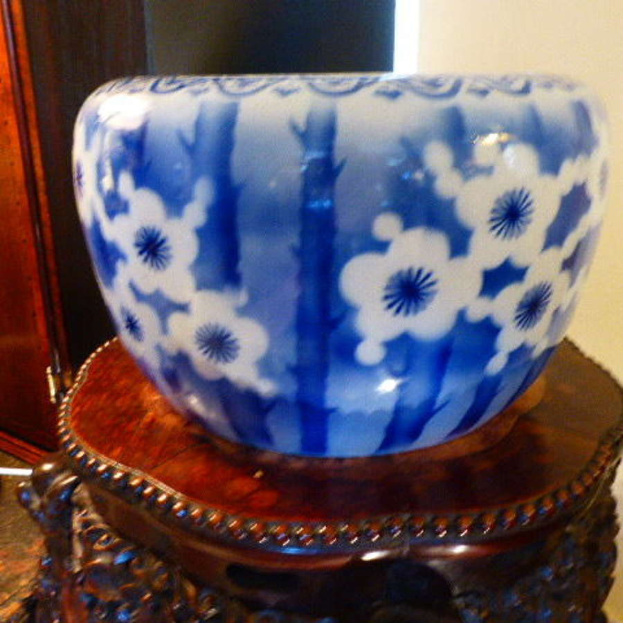 19th century Blue and White Jardiniere