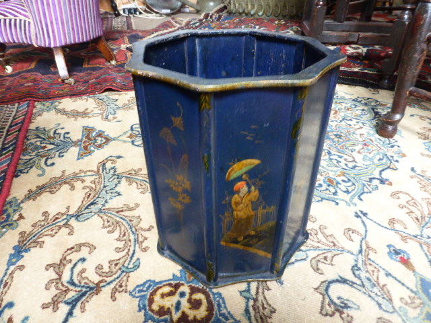 Chinoiserie Waste Paper Bin