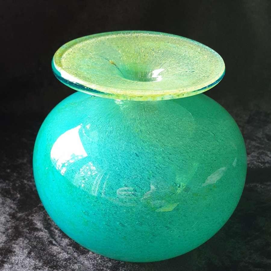 Early Mdina Glass Globe Vase c1970's
