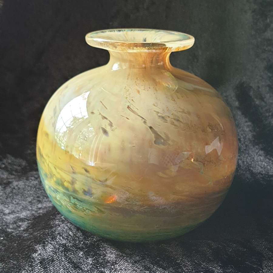 Beautiful Small 'Aurene' Isle of Wight Glass Globe Vase