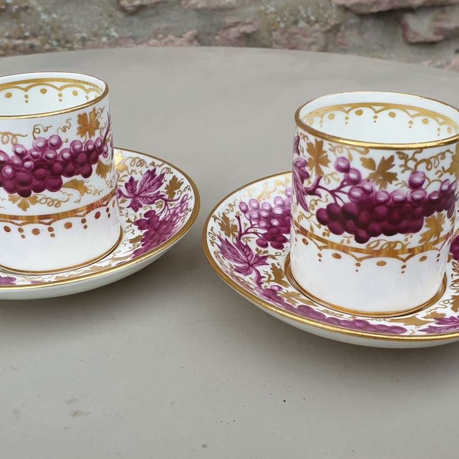Pair of T Goode & Co Coffee Cups and Saucers