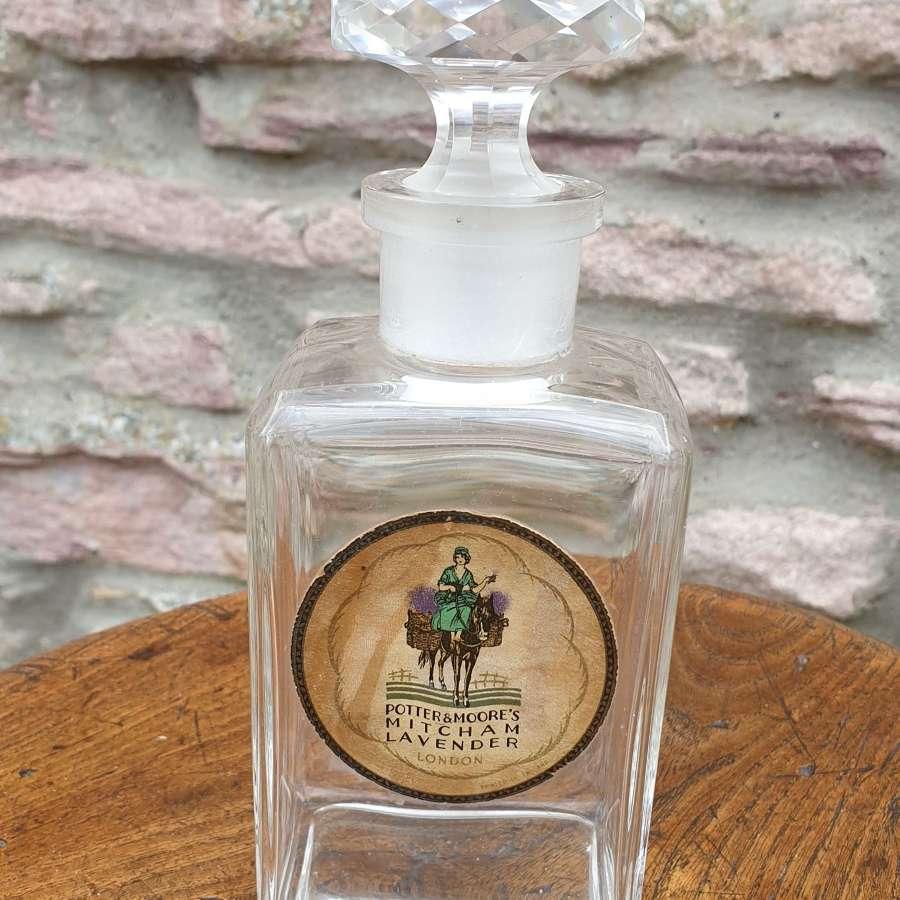 Potter & Moore' Perfume Bottle c1940's