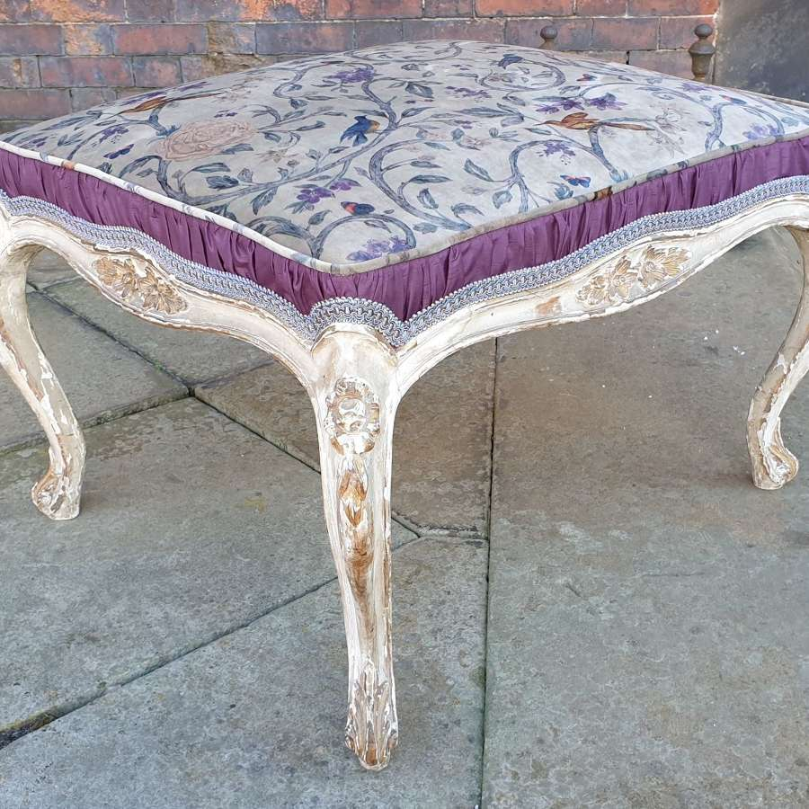 Stylish 19th Century French Upholstered Stool