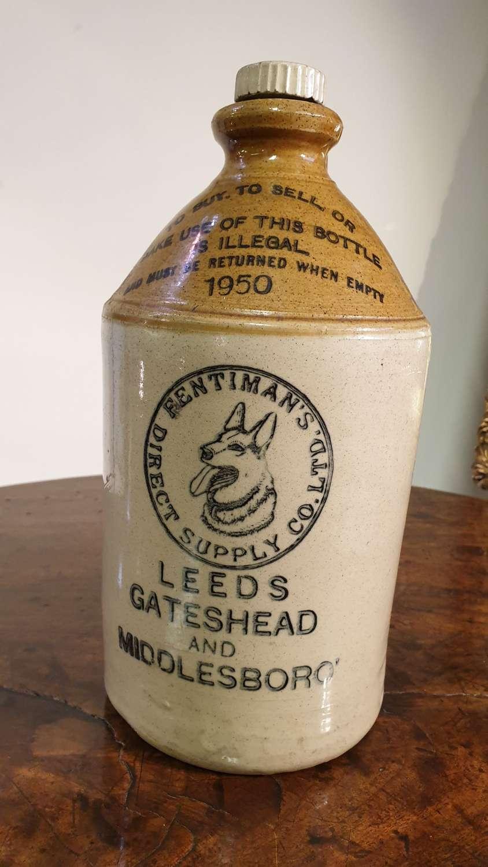 "Fentimans ""Old Grey Hens"" Original Stone Drinks Jar"