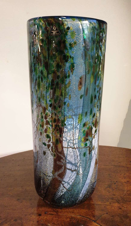 Michael Harris Signed 'Undercliff' Cylinder Vase