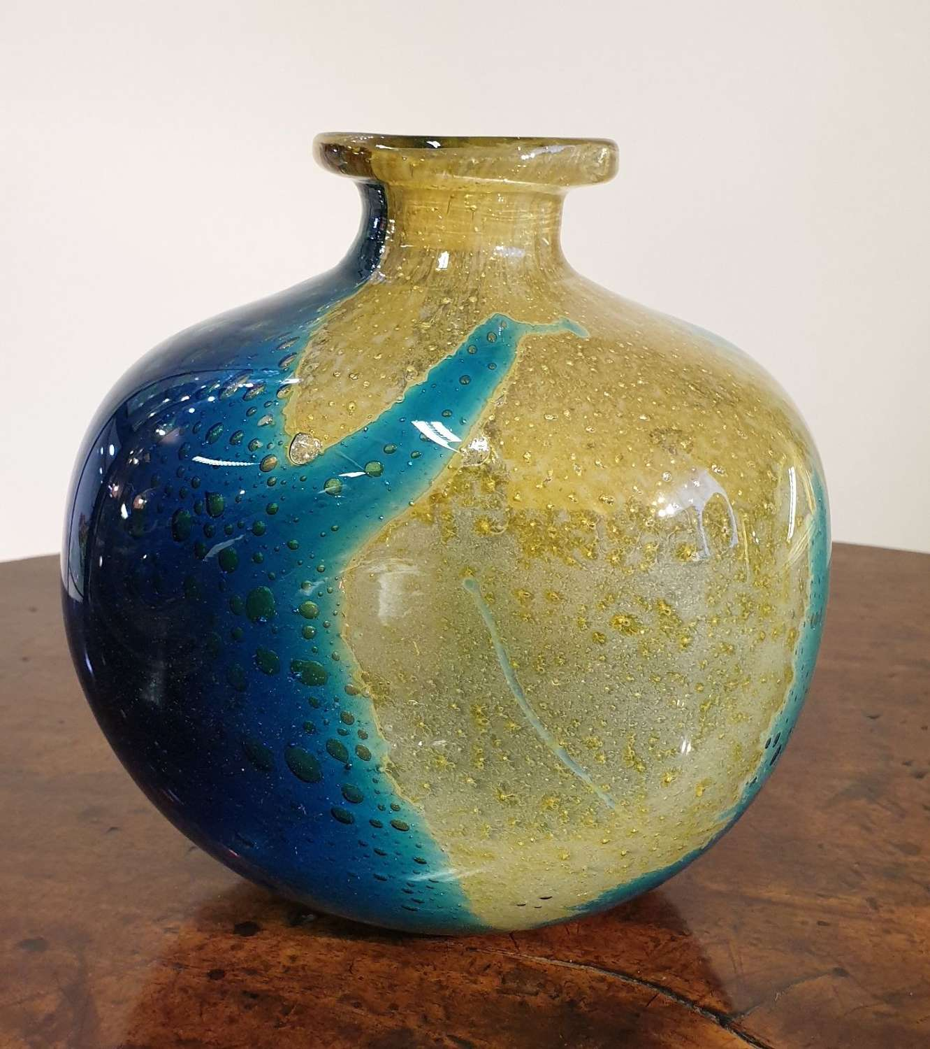 Early trial Mdina 'Japanese' Vase by Michael Harris