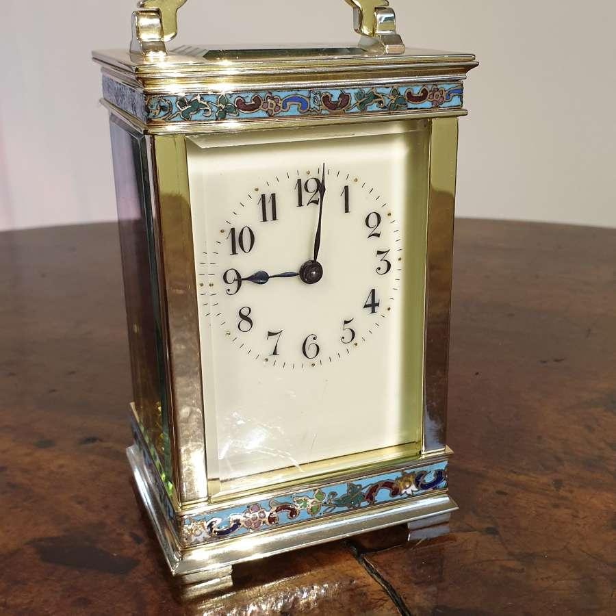 Attractive Small Brass French Carriage Clock
