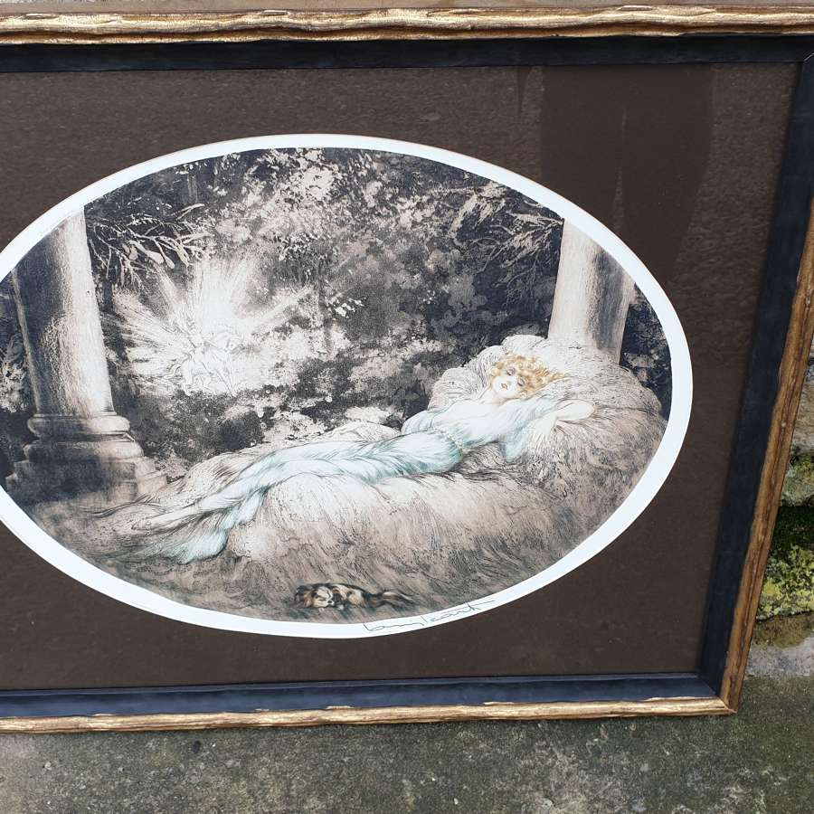 "Louis Icart Print, Titled : ""Sleeping Beauty"" 1888 – 1950"