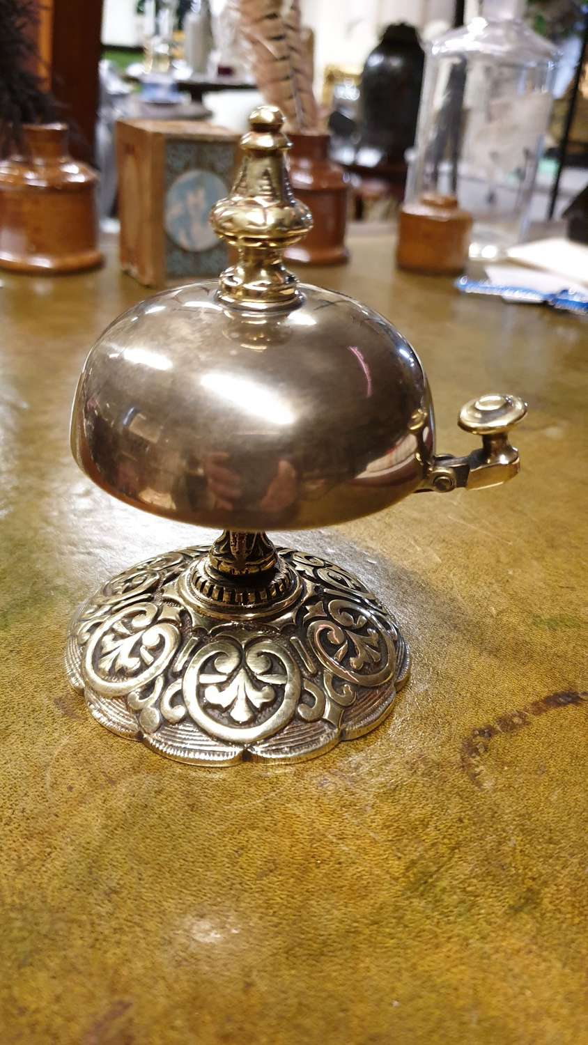 Late Victorian Brass Desk Bell