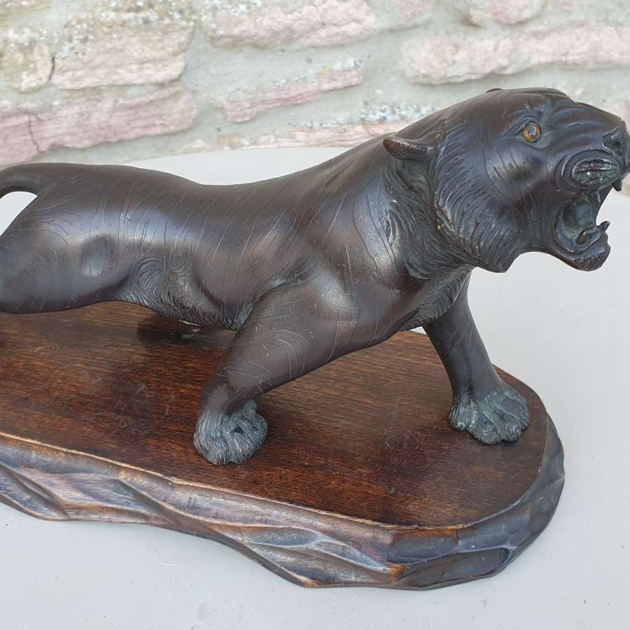 Late 19th Century Bronze Tiger