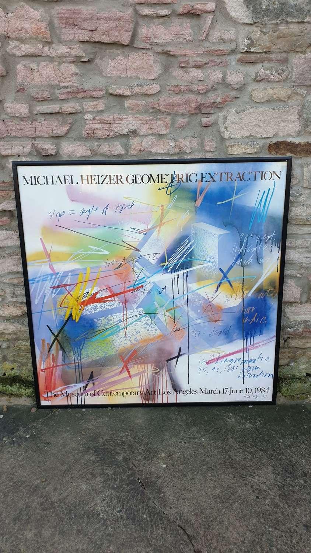 Large Framed Poster – Michael Heizer 1983