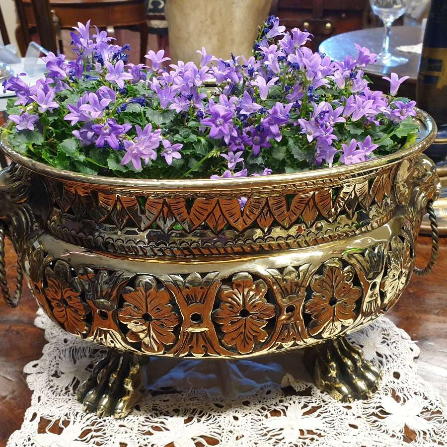Beautiful 19th Century Pierced Brass Vase