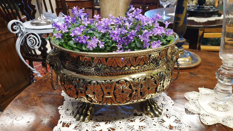 Beautiful 19th Century Pierced Brass Vase