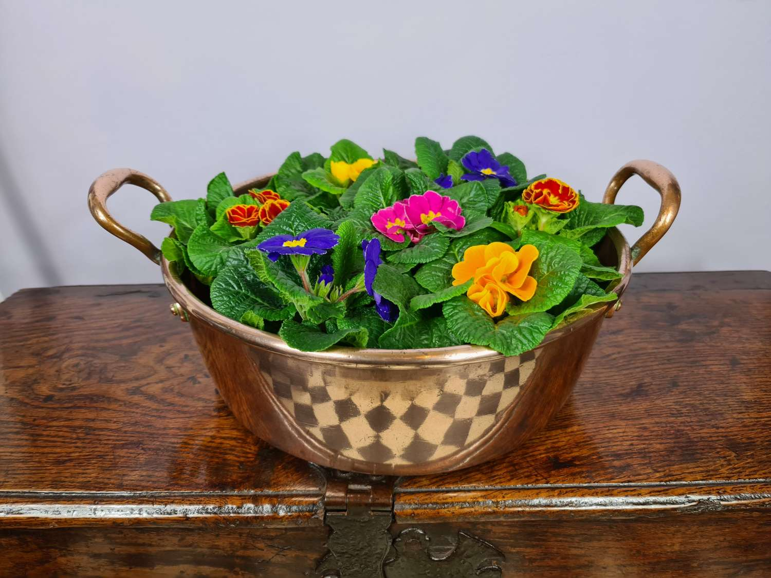 Two-Handled Copper Serving Pan c1890
