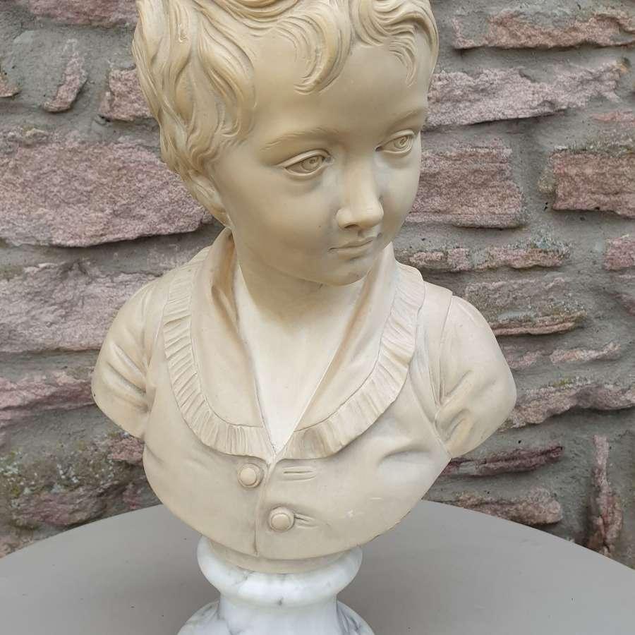 Alabaster Bust of Alexandre Brongniart After Jean-Antoine Houdon