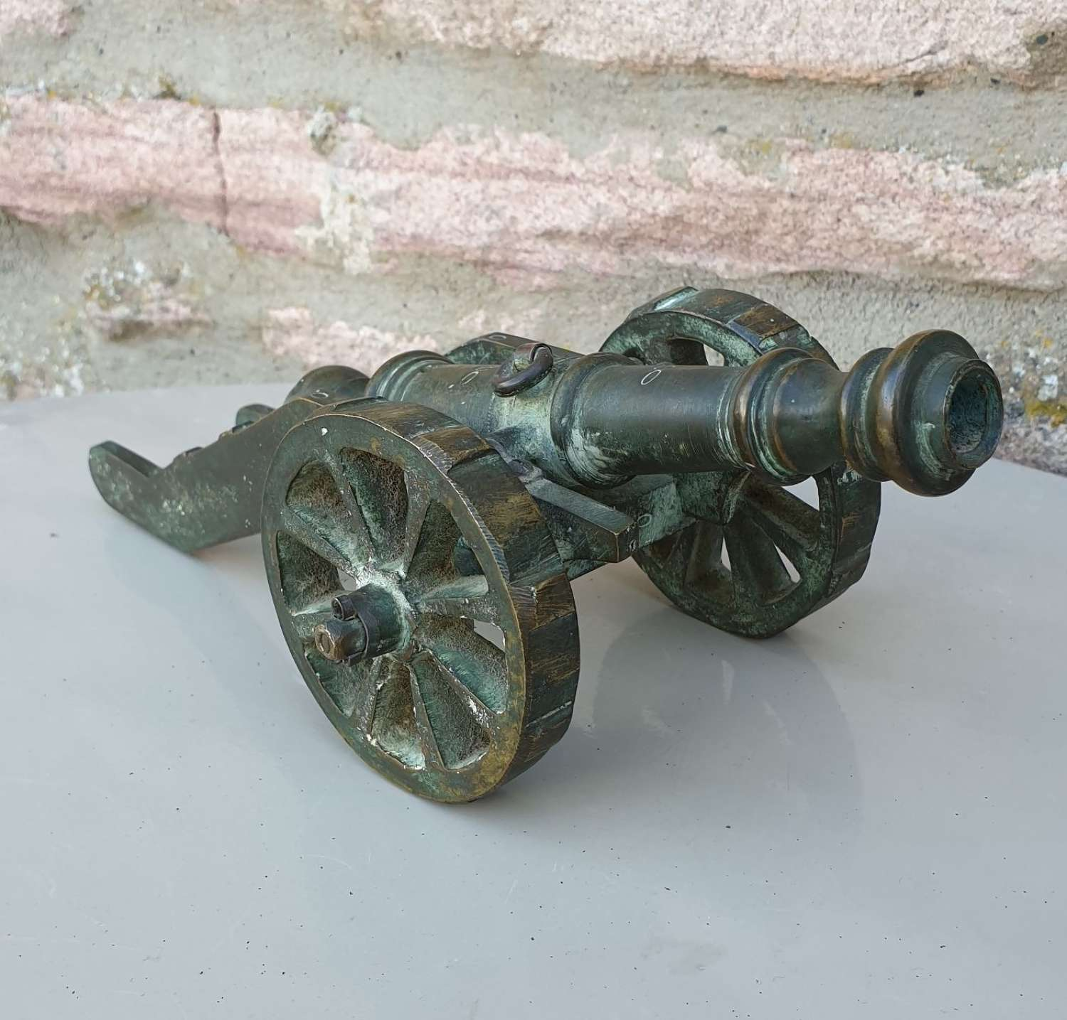 Vintage Solid Brass Desk Cannon