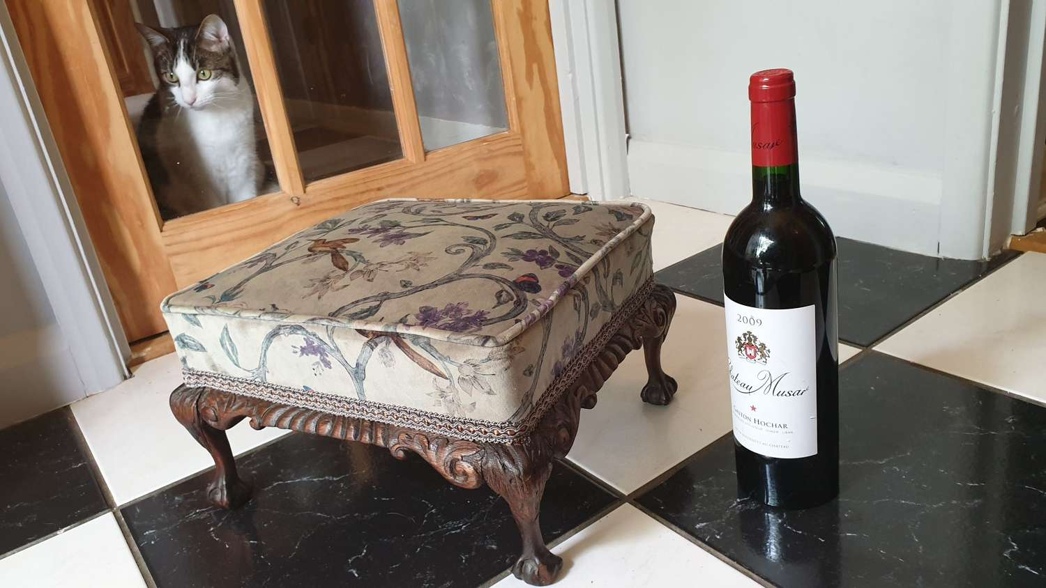 Late 18th/early 19th Century Walnut Footstool