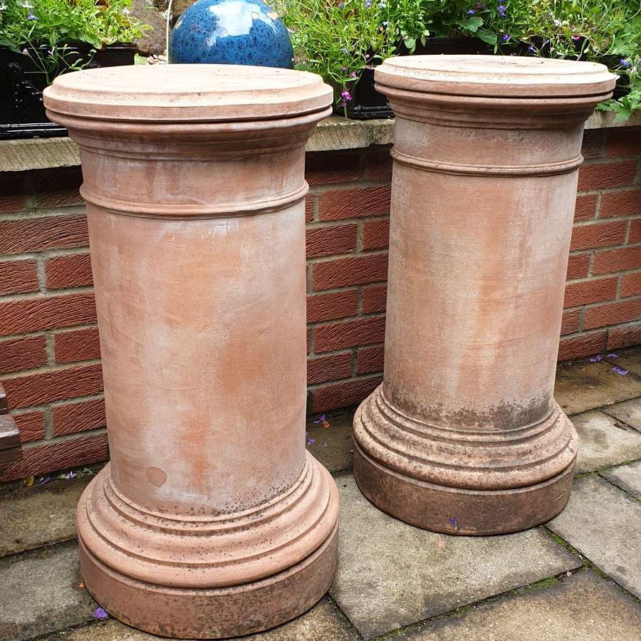 Substantial Pair of Tuscan Terracotta Columns