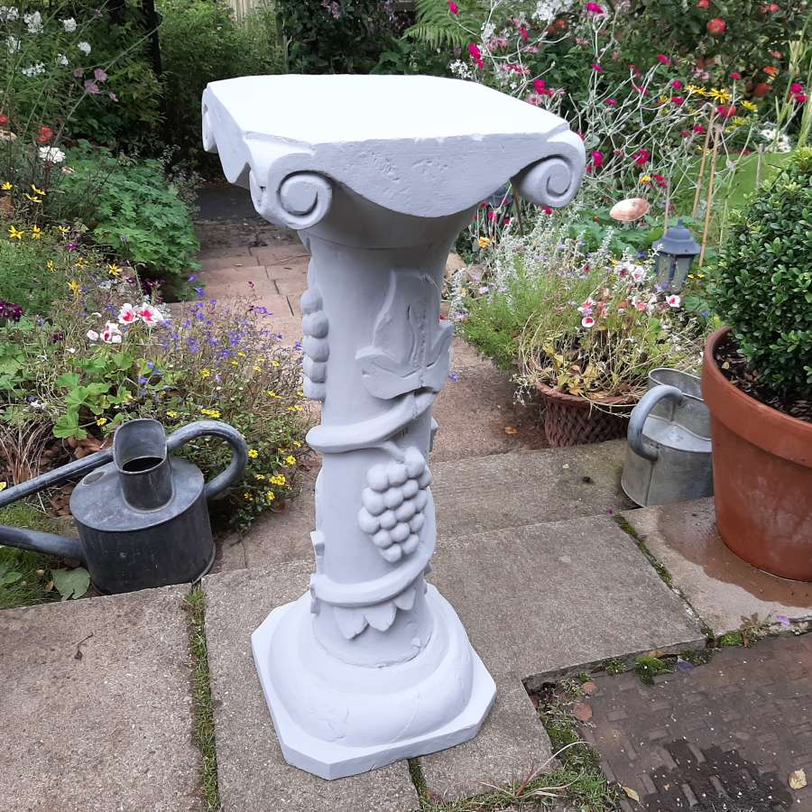 Carved and painted display Pedestal