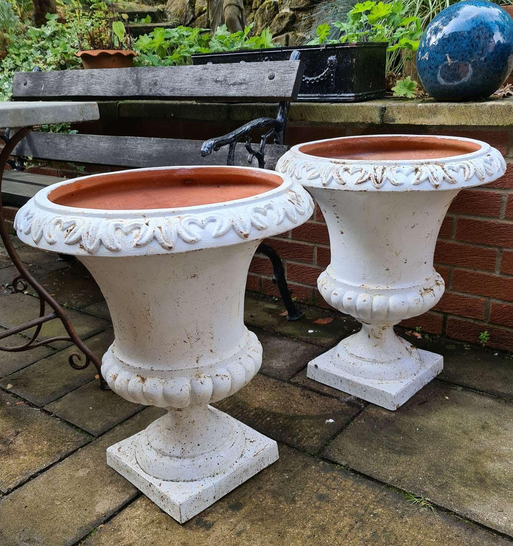 Large Pair Tuscan Terracotta Urns