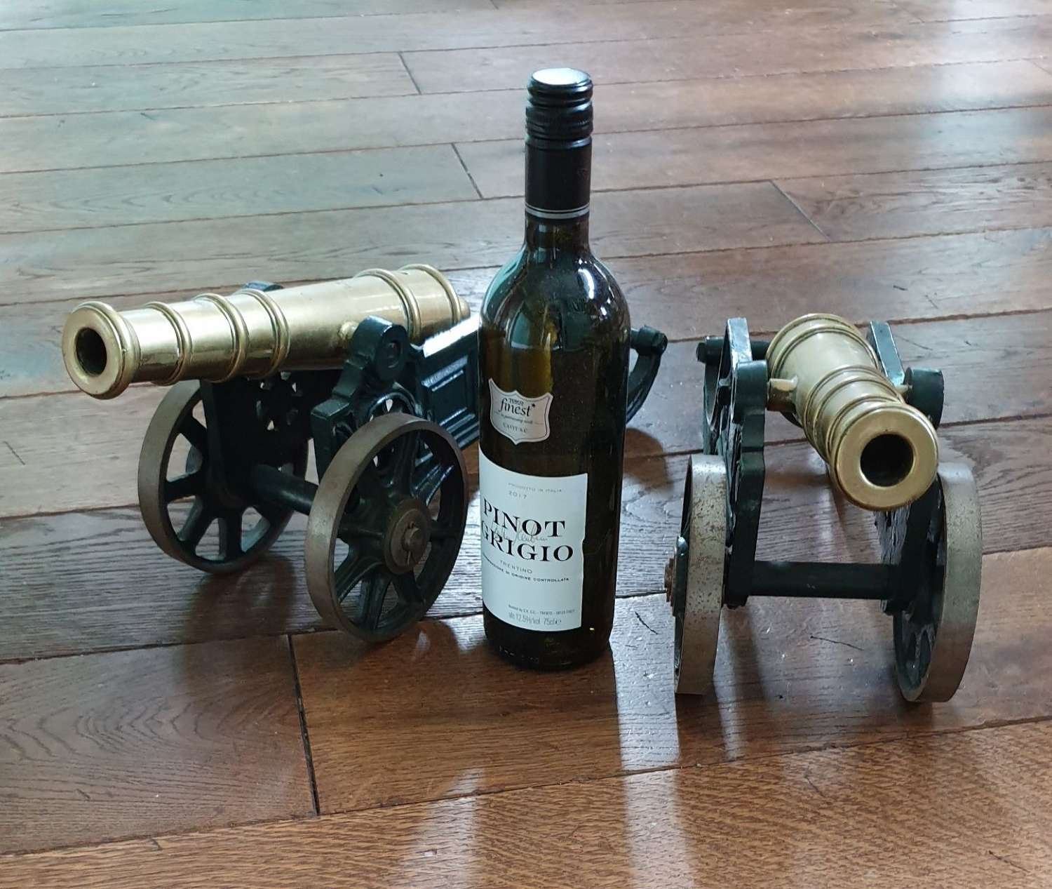 A pair of Large Display Table Cannon
