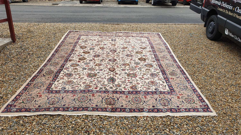 Large Room Size, Signed Antique Persian Tabriz Carpet c1930