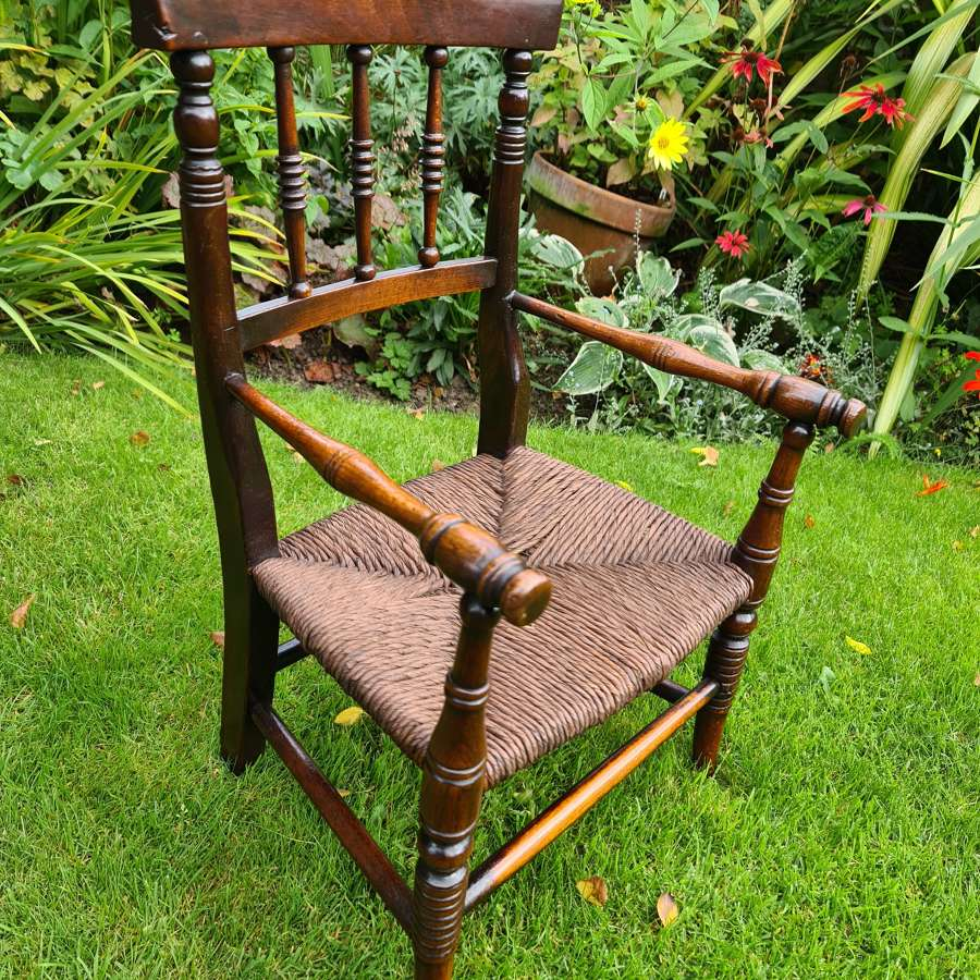 19th Century Victorian Child's Armchair