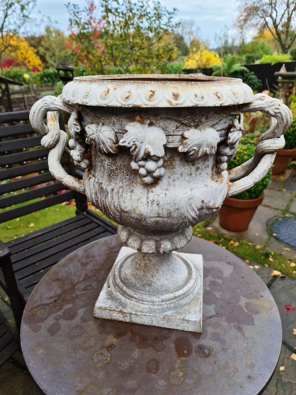 Early 19th Century Cast-iron Urn