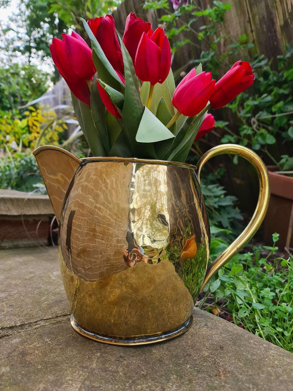 Large 18th Century Brass Pouring Jug