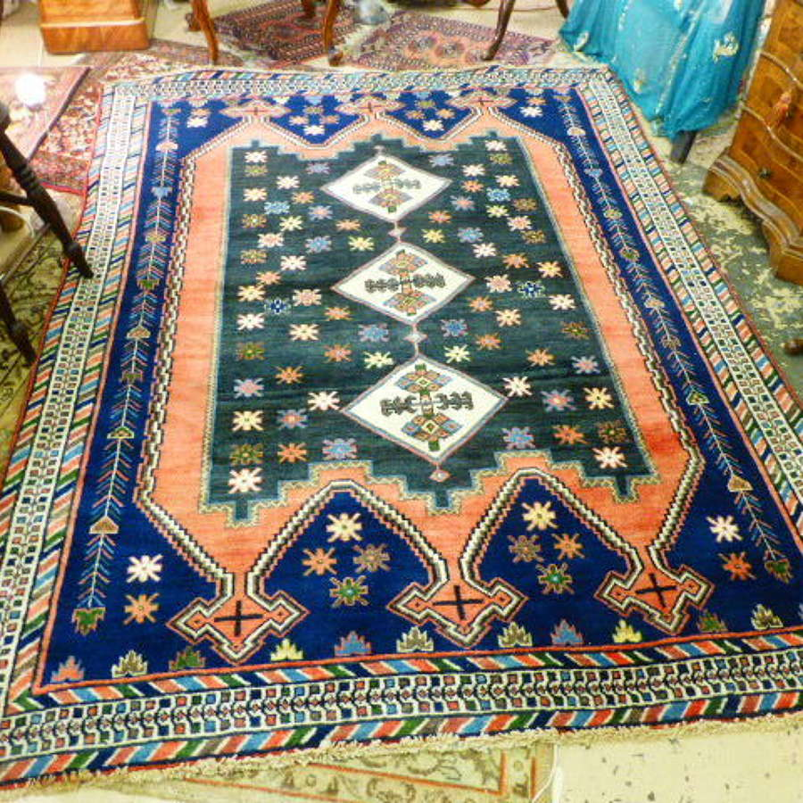 Unusual Afshah Persian Rug with Beautiful Colours & Pattern