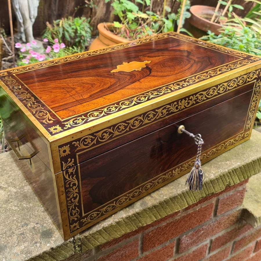 Superb Large George III Campaign Writing Slope