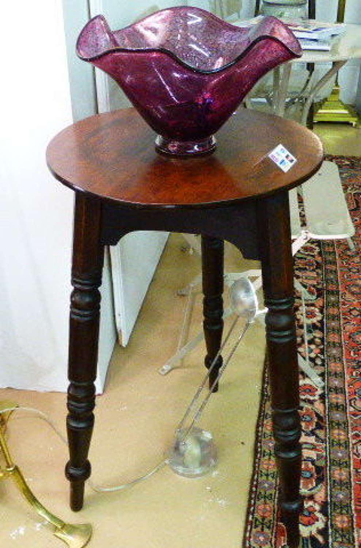 19th century Pine & Mahogany Cricket Table