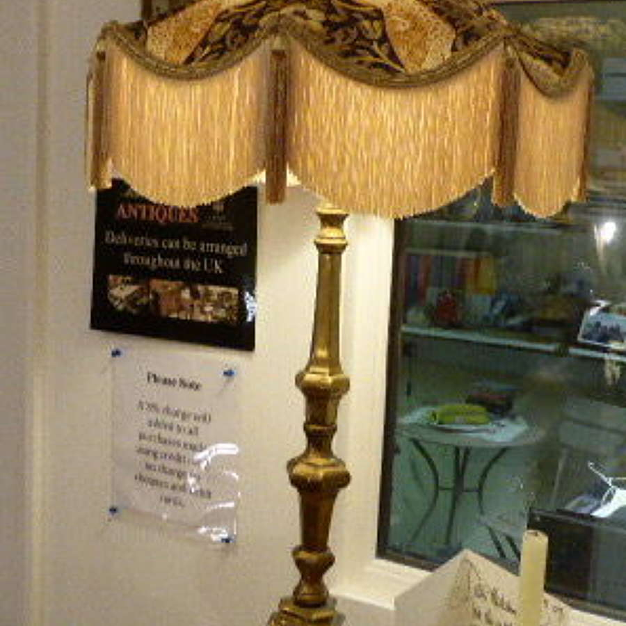 Large 19th century Heavy Brass Table Lamp.