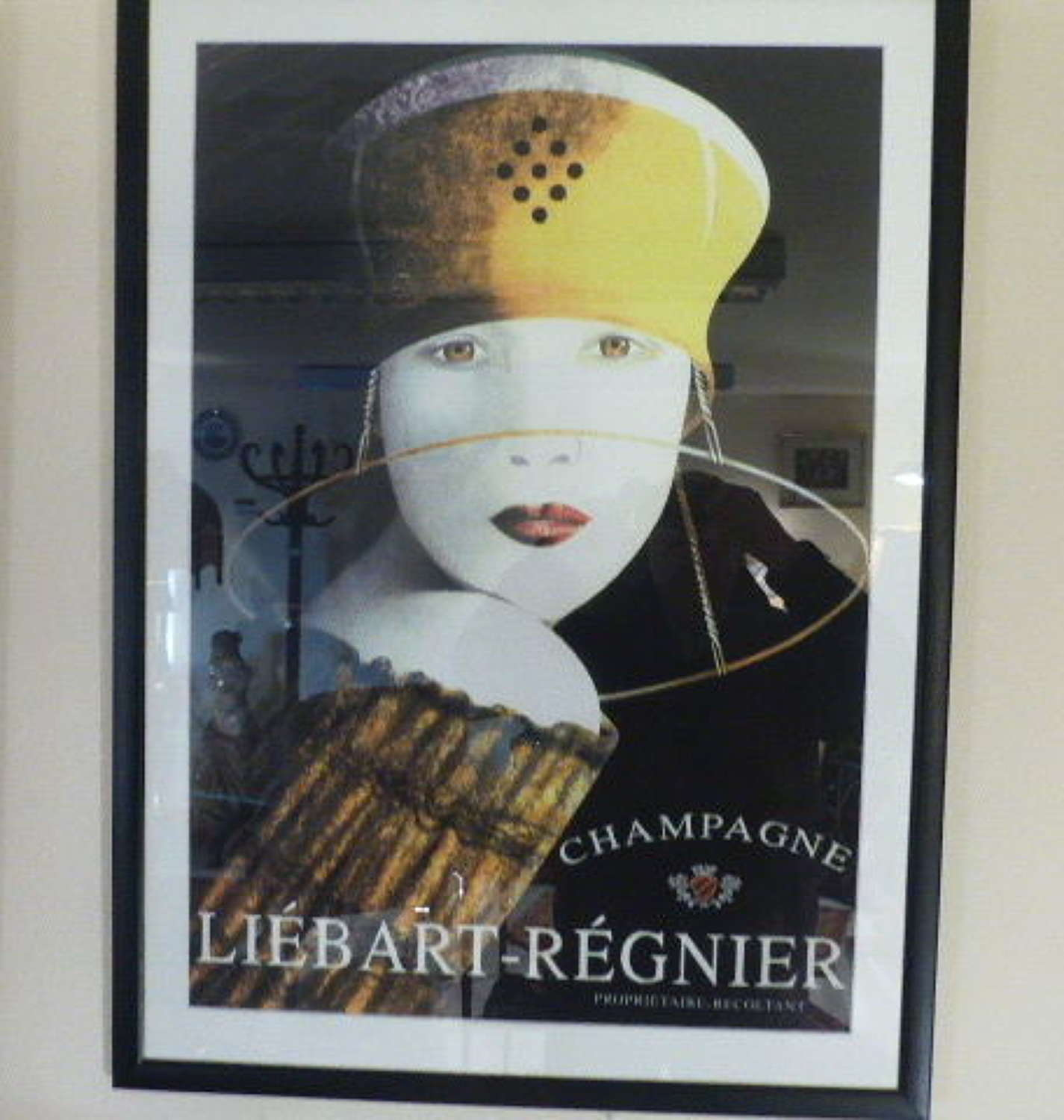 French Advertising Poster for Champagne.