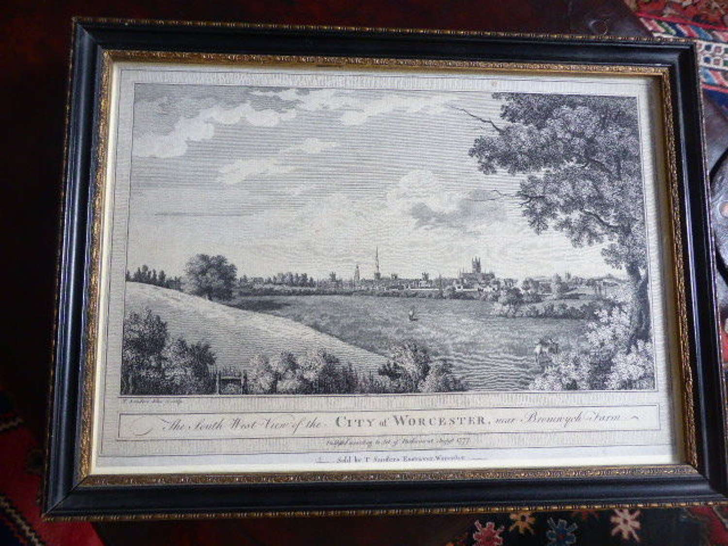 The South West View of the City of Worcester. 1777