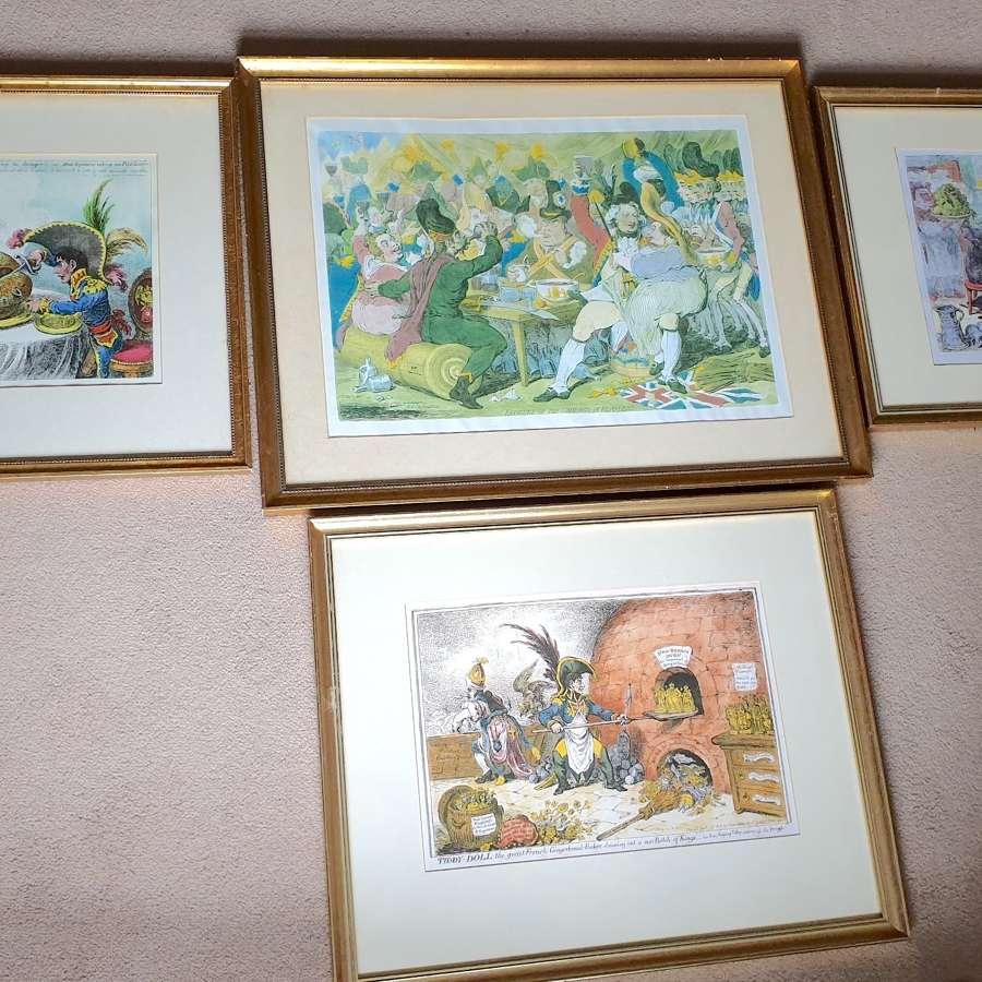 Group of Four Vintage framed Prints