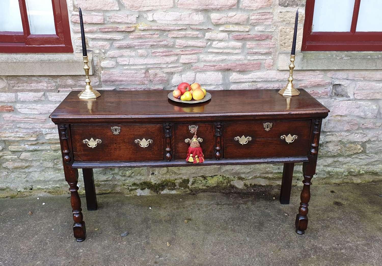 Rare Late 17th Century Charles 11 Oak Dresser