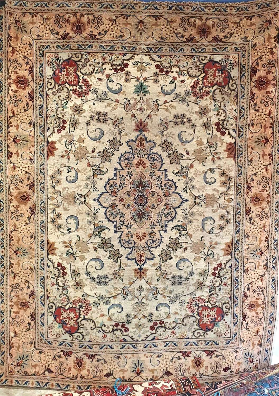 Beautiful Period Kashan Rug c1900
