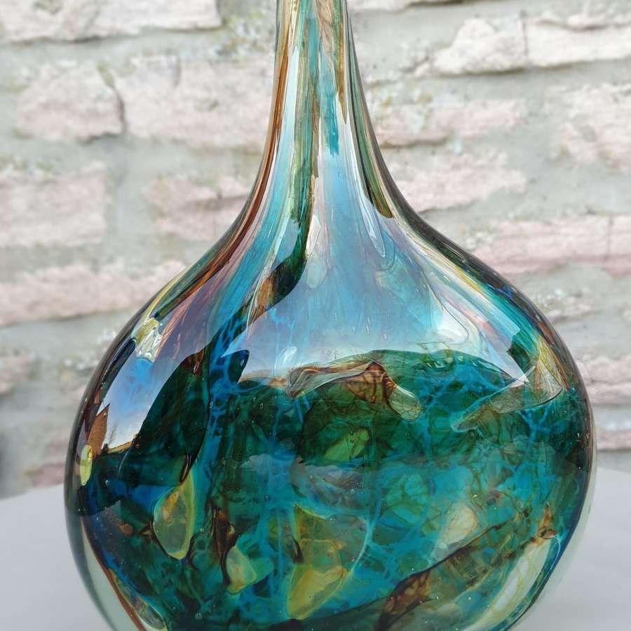 Mdina Glass Ice Cut 'Fish Vase'