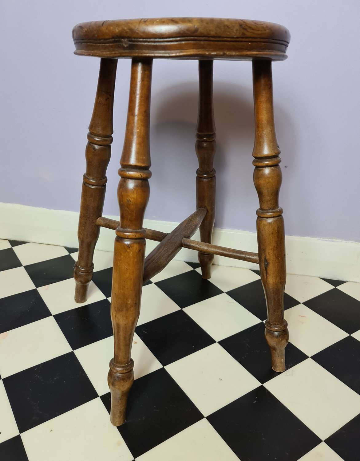 Traditional Victorian Kitchen Stool.